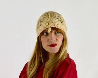 Antique Edwardian Crochet Bed Cap