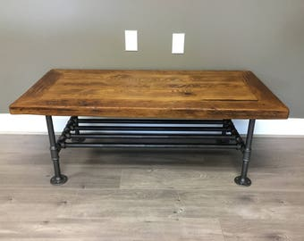 RECLAIMED WOOD TABLE, Coffee Table, Wood Table, Repurposed Wood Table,  Barnwood Coffee