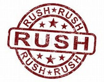 Rush My Order! Your Order Ships Within 24 Hours