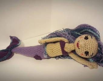 "Crochet 14"" Mermaid Doll"