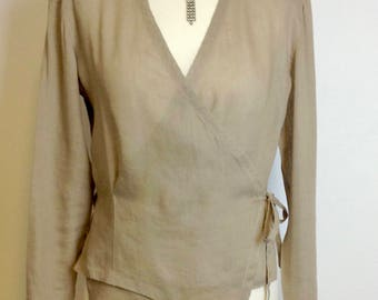 Wrap-round blouse by SYNONYME for Georges Rech Paris Size 38
