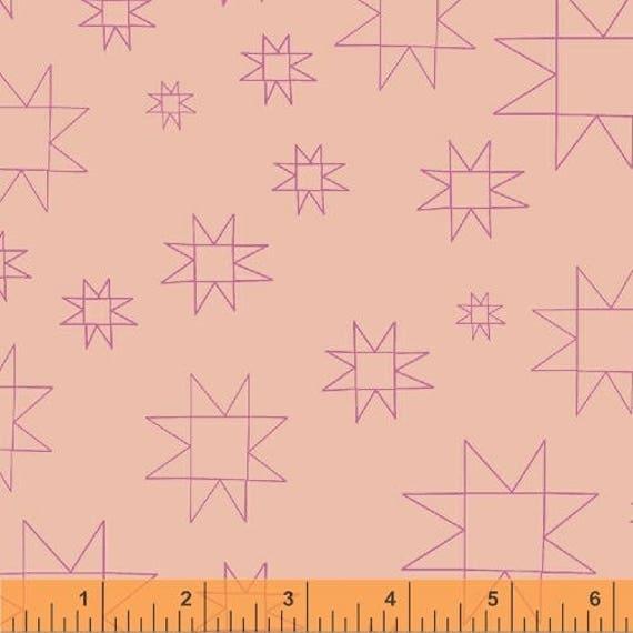 Daisy Chain by Annabel Wrigley for Windham Fabrics - Star in Peach