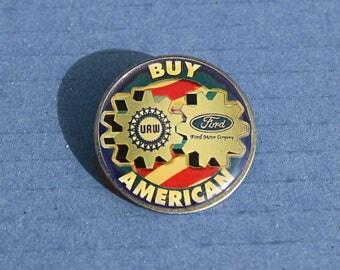 """Vintage """"Buy American"""" Tie pin"""