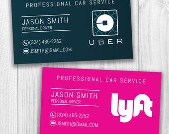 Uber/Lyft Business Cards, Uber Eats, Social Media Cards, Business Cards, Uber, Lyft, Digital File