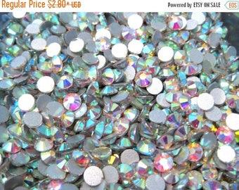 50% OFF Clearance Sale-- Clear AB Glass Flatback Rhinestone -A Grade Ss16 (3.8-4mm)