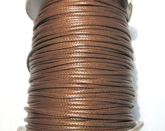 15ft Brown Korea Wax Polyester Cord Bracelet Necklace Cord 2mm