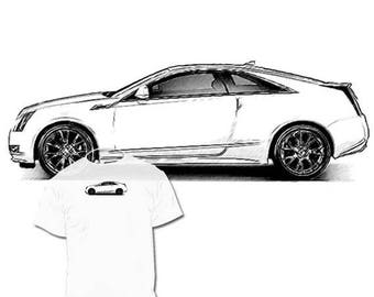 40% OFF Sale Cadillac CTS Drawing T shirt  Elr  Xts Ats Srx Escalade Drawings of Your car are available