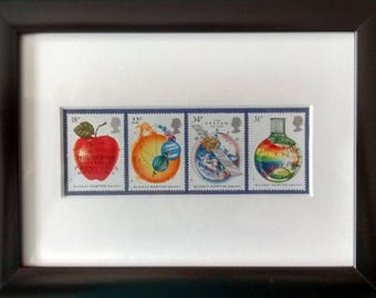 Science framed stamps for maths and physics 1987