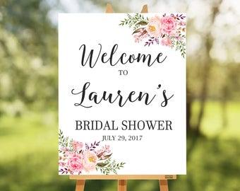 Floral Welcome Bridal Shower Sign. Garden Bridal Shower Theme. Bridal  Shower Decoration. Printable
