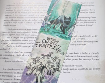 """Silver Fox """"foxes, charms and spells"""" bookmark"""