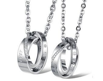 We Will Never Change - Personalized Necklaces for Him / Girlfriend and Boyfriend Necklaces / Engraved Necklaces For Him / Custom Engraved