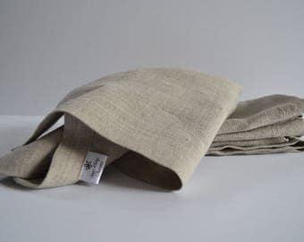 Linen Napkins, Cloth Napkins, Set of Four Napkins, Dinner Napkins, Natural Napkins, 100% Linen