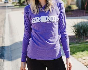 Grand Canyon State Hoodie / Hoodies / Purple Hoodie / Black Hoodie / Hoodies for Women / Hoodies for Men / Unisex