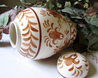 Hand Painted Jar With Lid, 1980