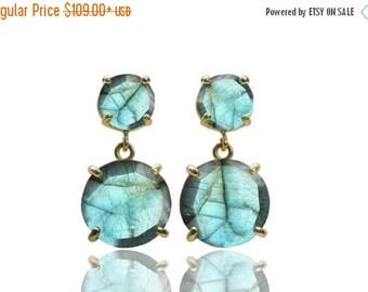 SUMMER SALE -  Labradorite earrings,dangle earrings,gold earrings,gemstone earrings,prong earrings,semiprecious earrings