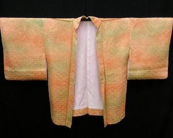 Vintage Kimono / Japanese Silk Haori Jacket / Kimono Cardigan / Short Robe / 021602