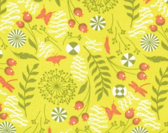 Dandelion in Olive Voile by Tula Pink HY
