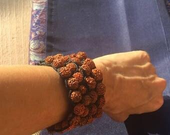 Ganga Blessed Rudraksha Seed Bracelets -~