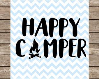 Happy Camper svg, Camping svg, Summer svg, camp svg, Campfire svg, Happy svg, Camp, Camping, summer, svg files for cricut, svg design, dxf