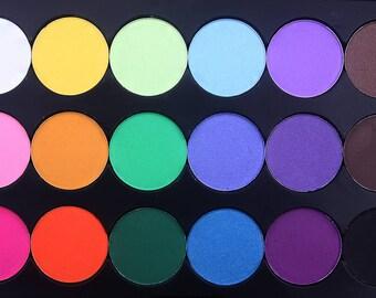 Pre-order only Neon Lights eyeshadow Palette Shimmer eyeshadows  Pigmented eyeshadow Bright eyeshadow cruelty free makeup