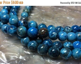 "20% OFF Dakota Stones - 10mm Round Blue Crazy Lace Agate Beads - 8"" Strand"