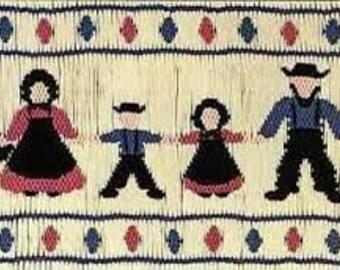 Amish Family Smocking Plate