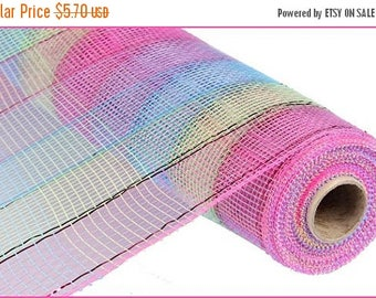 "SALE 21""x10yd check mesh, hot pink mesh, turquoise mesh, apple green mesh, hot pink deco mesh, turquoise deco mesh, poly deco mesh, mesh"