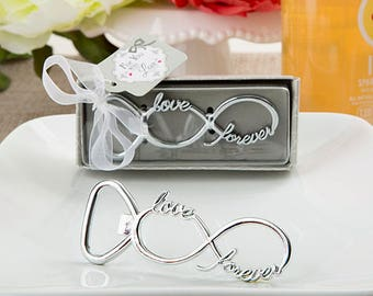 Infinity Design Silver Metal Bottle Opener - Wedding Bridal Shower Party Favor 20-96 Qty  FC4237