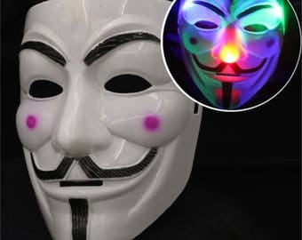 LED light up V for Vendetta mask