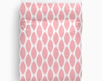 Pink Ikat Duvet Cover, Pink Bedding, Teen Girl Room Decor, Queen, King, Twin, Tween, Teen Room Decor, Girls Bedroom Decor, Dorm Bedding
