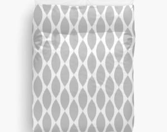 Gray Duvet Cover, Ikat, Girls Bedroom Decor, Guest Room, Dorm Decor, Girls Bedding, Twin Duvet Cover, Queen Duvet, King Bedding, Grey