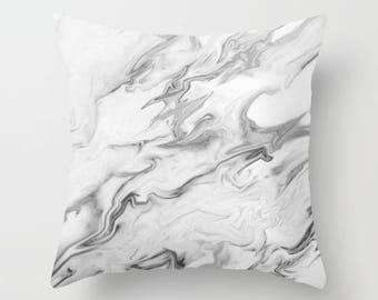 Marble Pillow Cover, Velvet Cushion, Pillow Cover 18x18, 22x22, Velvet Pillow, Marble Cushion Cover, Bedroom Decor, Gifts for Women