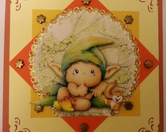 card image 3d toread poya, scrapbooking