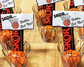 Basketball Treat Bag Toppers - Basketball Team Party Tags - Basketball Tag- Basketball Birthday - Instant Download - Printable PDF FIle