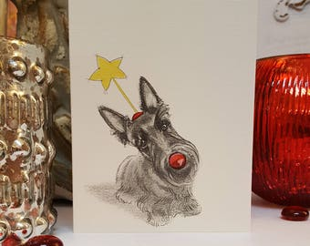 Boxed Scottish Terrier Holiday Cards