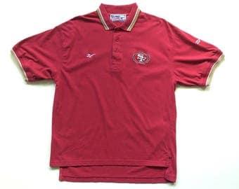 90s REEBOK San Francisco 49ers nfl football button up polo shirt size Medium vintage nfl pro line