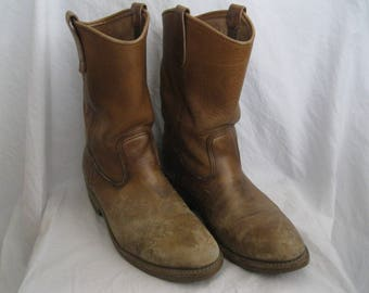 Distressed Brown Leather Red Wing Boots Size 9 E