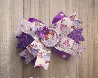 Sofia the First Hair Bow or Bow & Headband Set