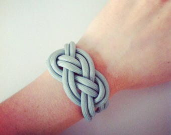 Gray sailor knot bracelet