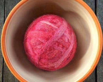 Fetch2.5!  Alpaca and Wool Fiber Dog Toy Ball in Cupid