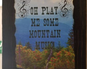 Mountain Music Plaque