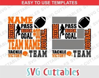 Football svg, football subway art svg, football svg, dxf, eps, football template, silhouette file, cricut cut file, digital download