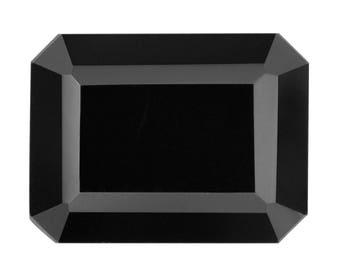 Thai Black Spinel Octagon Cut Loose Gemstone 1A Quality 8x6mm TGW 1.70 cts.