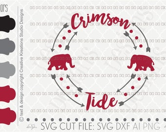 Cut file, Football Svg, Bama Svg, Alabama football svg, Silhouette Cut File, dxf file, ai file, Silhouette Cameo, Cricut, Monogram Circle