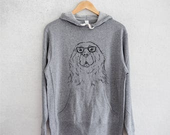 Boomer the Newfoundland Hoodie - Grey French Terry - Unisex Slim Fit
