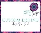 Custom listing for Lee