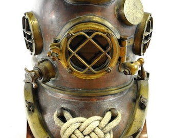 Extremely rare original WW II US Navy Mark V Model 1 Diving Helmet circa 1943