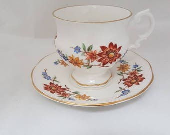 Vintage//Royal Sutherland//cup and dishes//flowers//Hightea//tea cup//brocante//English style//tea//gift//Fine bone China