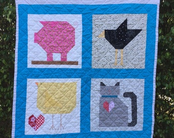 Farmyard Friends Country Animals Quilt