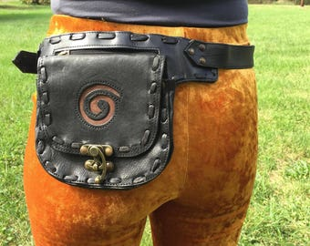 Recycled Leather Utility Belt -Spun-